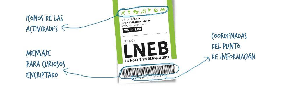 Cartel La Noche en Blanco Málaga 2019